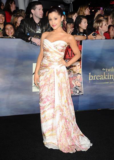 Ariana Grande Breaking Dawn 2 Premiere in LA 11/12/12