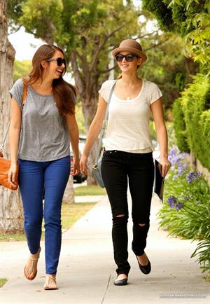 Jennifer Lawrence walking with a friend in Santa Monica on June 16, 2012