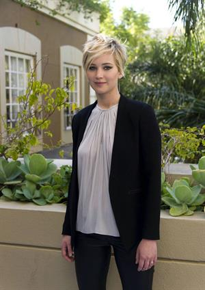 Jennifer Lawrence The Hunger Games: Catching Fire press conference in Beverly Hills, November 8, 2013