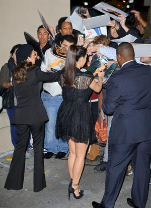 Kim Kardashian arrives for the Jimmy Kimmel Show  (29.01.2013)