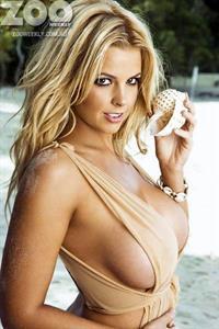 Rachel Burr in a bikini