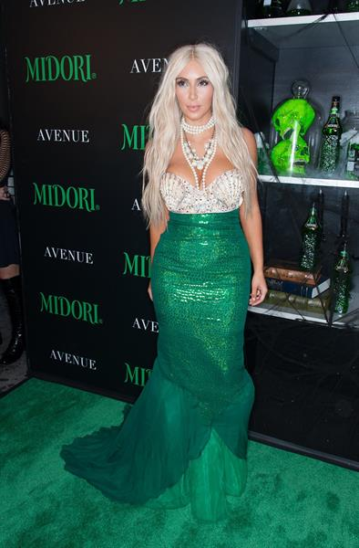 Kim Kardashian - Midori Green Halloween Party October 27, 2012