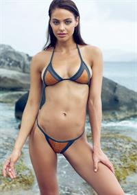 Nicole Meyer in a bikini