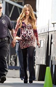 Sofia Vergara on the set of '''Modern Family' in LA October 3, 2012
