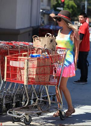 Ashley Tisdale grocery shopping at Trader Joe's in Toluca Lake on April 28, 2012