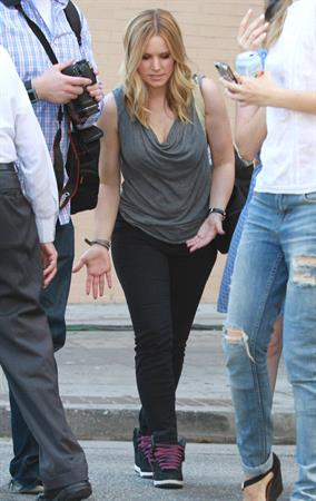 Kristen Bell - On the set of Veronica Mars in Los Angeles on June 27, 2013