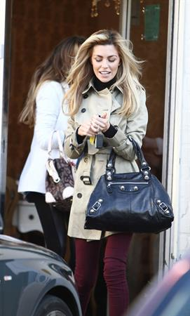 Abigail Clancy leaving a beauty parlour in Liverpool on January 14, 2012