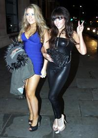 Abi Phillips night out in Liverpool on January 28, 2012