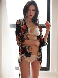 Audrey Blondin in lingerie