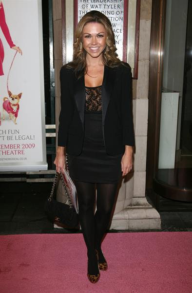 Adele Silva Legally Blonde gala performance London January 13, 2010