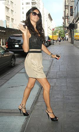 Adriana Lima appearing on Good Day New York in New York City on August 9, 2011