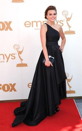 Aimee Teegarden 63rd annual Primetime Emmy Awards held at Nokia Theatre in Los Angeles on September 18, 2011