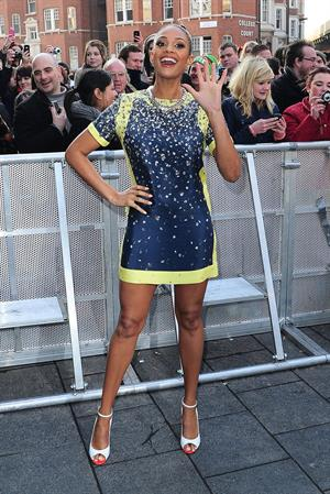 Alesha Dixon - Very short dress at Britains Got Talent auditions in London on February 7 2012