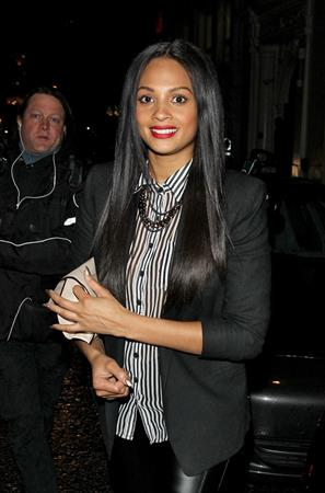 Alesha Dixon - Nobu Berkley in London on April 19, 2012