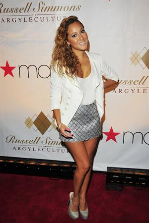Adrienne Bailon at Russell Simmons Argyleculture fall on August 3, 2010