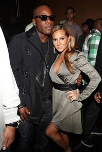 Adrienne Bailon Sean Garretts The Inkwell Mixtape launch party in New York City on August 24, 2010