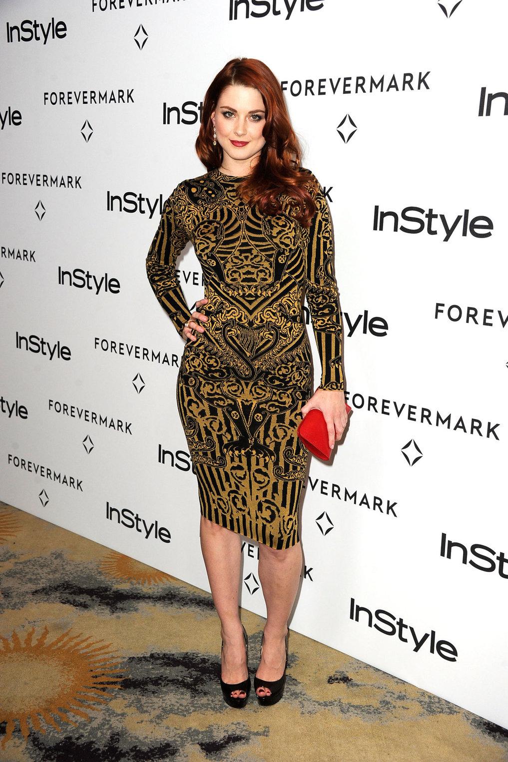 Alexandra Breckenridge Forevermark and Instyle Golden Globe event on January 10, 2012