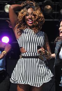 Alexandra Burke party in the park on July 22, 2012