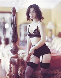 Carol Seleme Daniel in lingerie