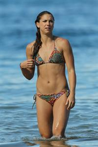 Alex Morgan bikini candids in Hawaii 12/19/12