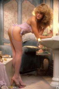 Penny Baker in lingerie