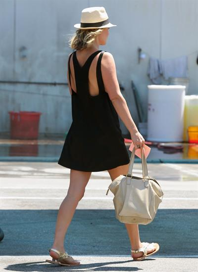 Ali Larter - Leggy in Black Dress at a Car Wash in Hollywood - August 9, 2012