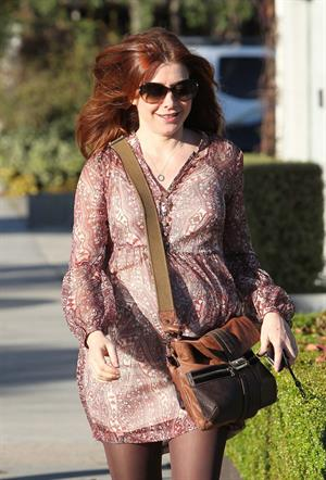 Alyson Hannigan Andy Lecompte Salon in West Hollywood on January 6, 2012