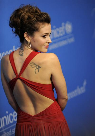 Alyssa Milano attends the Unicef Ball