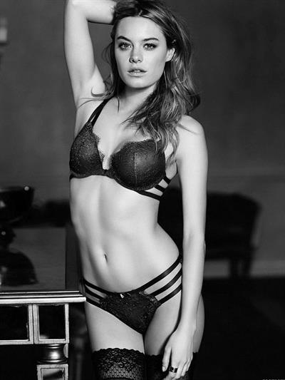 Camille Rowe in lingerie