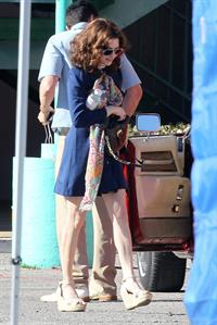 Amanda Seyfried on set of Lovelace in Los Angeles on January 5, 2012