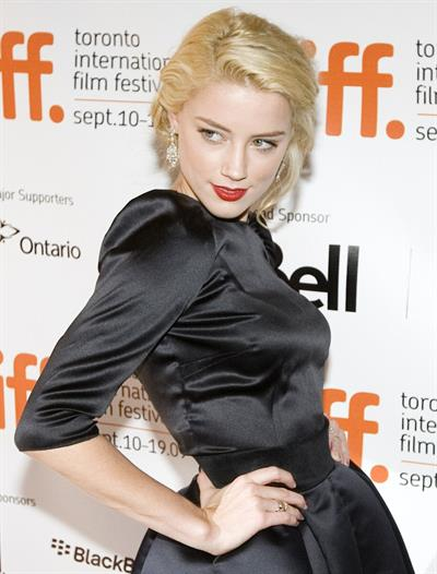Amber Heard attending the Toronto International Film Festival