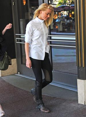 Amber Heard shopping at the Grove in Los Angeles on March 22, 2012