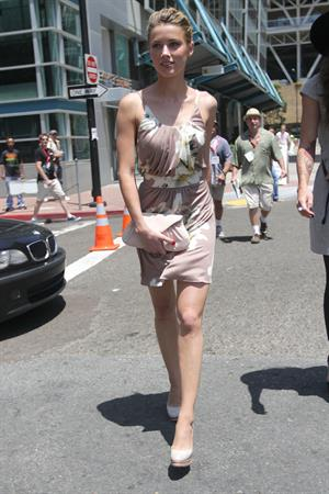 Amber Heard leaves the Omni Hotel in San Diego on July 24, 2010