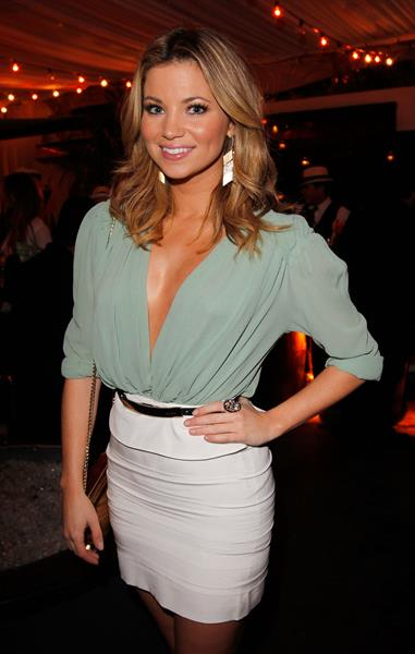 Amber Lancaster launch of Caliche Rum in Hollywood 01.03.12
