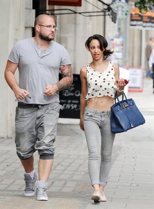 Amelle Berrabah walking in London on July 5, 2011