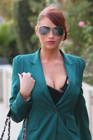 Amy Childs leaving an OK Magazine photoshoot in Los Angeles