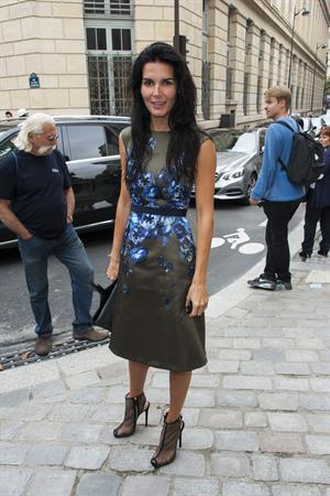 Angie Harmon Giambattista Valli fashion show at Paris Fashion Week on Sept 30, 2013
