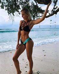 Emma Hartley in a bikini