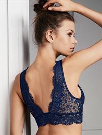 Georgia Fowler in lingerie