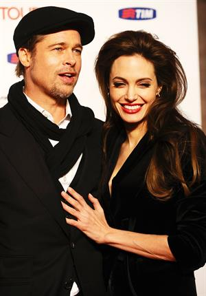 Angelina Jolie at The Tourist premiere in Rome