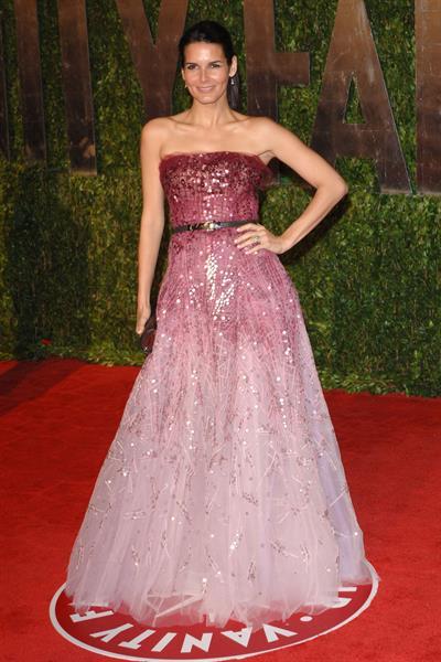Angie Harmon 2010 at Vanity Fair Oscar party on March 7, 2010