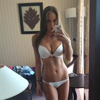 Emma Frain in lingerie taking a selfie