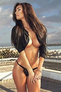 Rosie Roff in lingerie