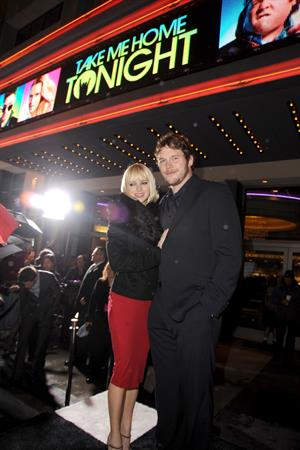 Anna Faris premiere of Take Me Home Tonight in Los Angeles in Los Angeles  2-3-2011