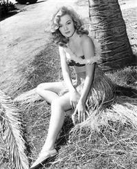 Leslie Parrish in a bikini