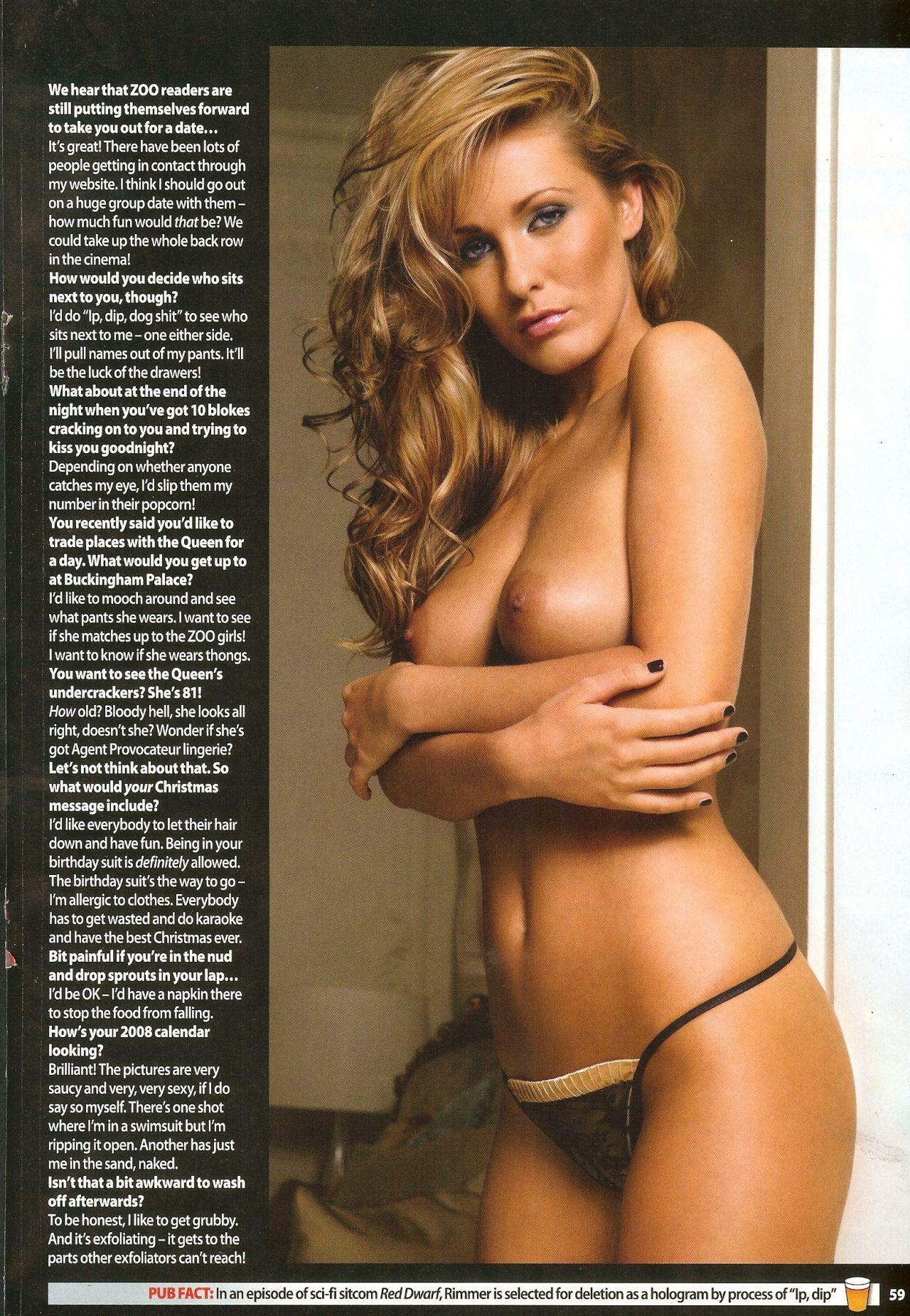 "Amii Grove Nude Pics amii grove nude in ""zoo"" magazine dec. 2007 hq scans. rating"