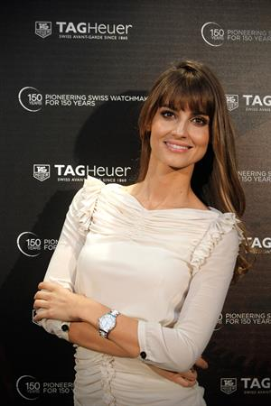 Ariadne Artiles Tag Heuer celebrating its 150th anniversary in Madrid on October 19, 2010