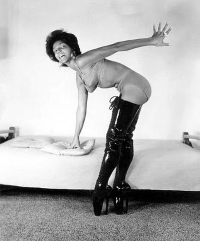Nichelle Nichols in lingerie