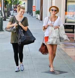 Ashlee Simpson shopping at Urban Outfitters in Los Angeles on September 8, 2011