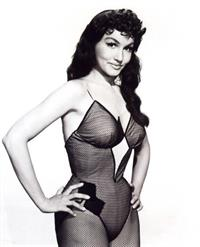 Julie Newmar in lingerie